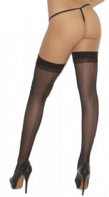 Black Seamed Stockings with plain Tops by Elegant Moments